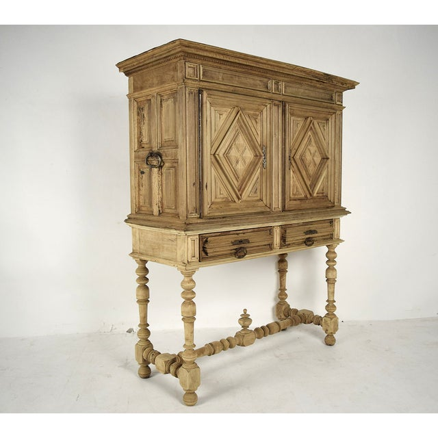 19th French Century Walnut Bleached Wood Cabinet - Image 3 of 9