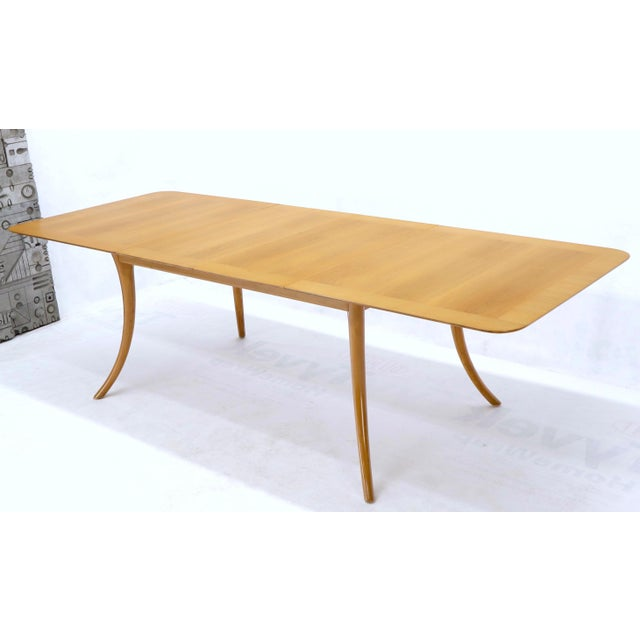 Gibbings for Widdicomb Klismos Style Dining Table with Two Extension Boards For Sale - Image 9 of 13
