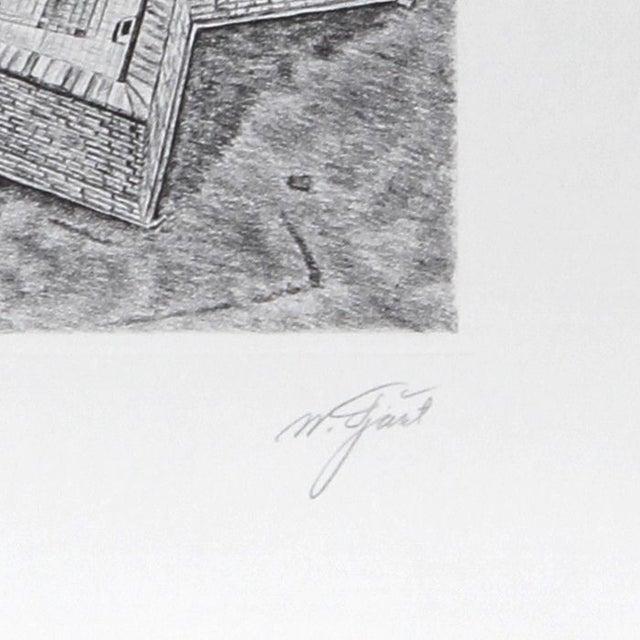 Artist: Walter Tjart, Russian/American (1935 - ) Title: New York: The Statue of Liberty Year: circa 1980 Medium: Etching,...