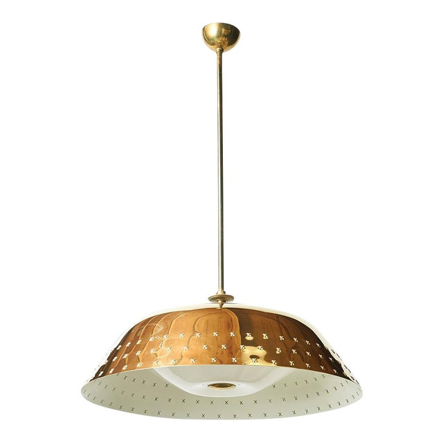 Brass Chandelier by Lisa Johansson Pape For Sale