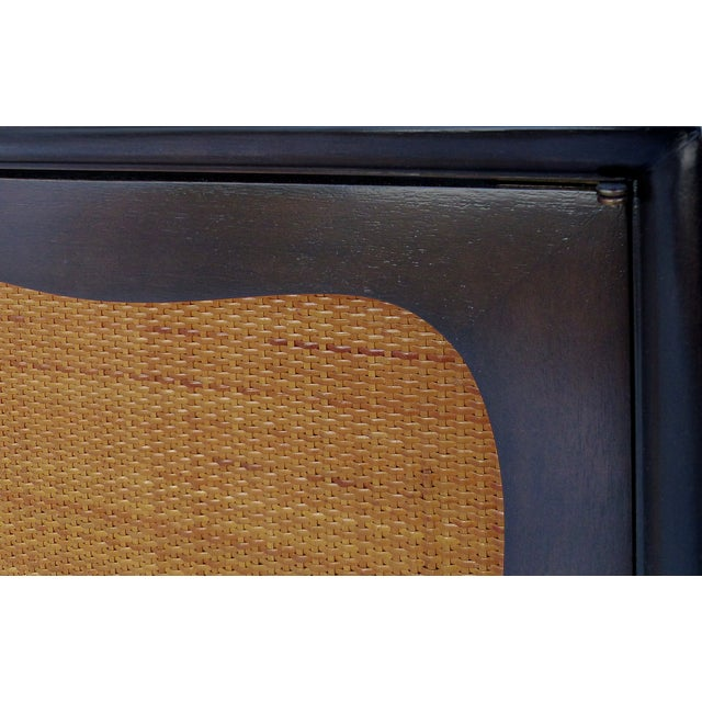 Lacquered 50's Credenza With Woven Cane Doors - Image 7 of 10