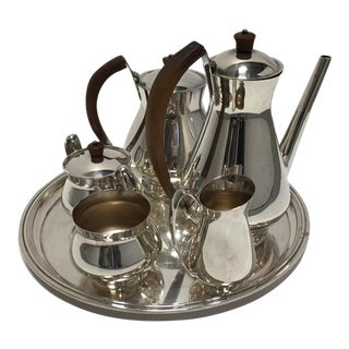 Gotham Silver Plate Coffee and Tea Set - Set of 6
