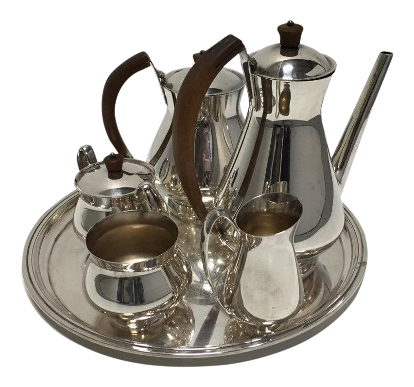 Gotham Silver Plate Coffee and Tea Set - Set of 6  sc 1 st  Chairish & Gotham Silver Plate Coffee and Tea Set - Set of 6 | Chairish