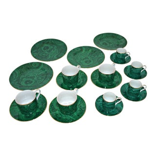 Neiman Marcus Malachite Coffee & Demitasse Set