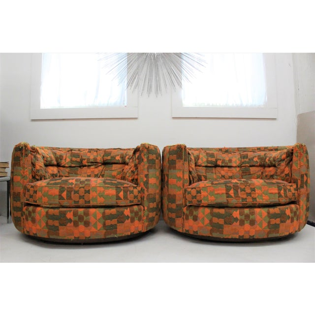 Mid Century Modern Flair -Bernhardt Pair of Upholstered Chairs For Sale - Image 13 of 13
