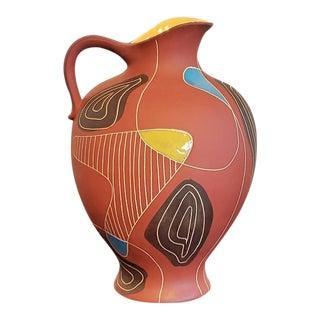 """1950s Bodo Mans """"Brazil"""" Decor Floor Vase For Sale"""