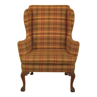 Kittinger Cw-104 Claw Foot Colonial Williamsburg Wing Chair For Sale