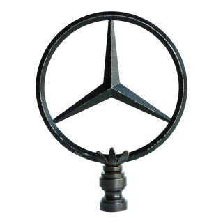 Mercedes Hood Ornament Lamp Finial