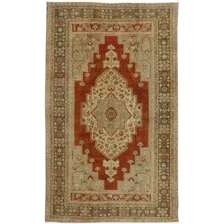 Vintage Turkish Oushak Rug With Arts and Craft Style - 7′5″ × 12′3″ For Sale