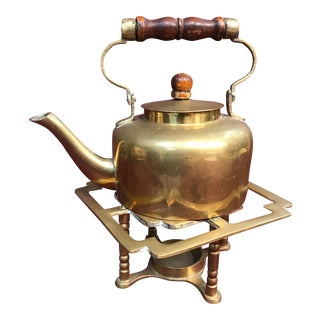 Vintage Brass Teapot and Candle Warmer