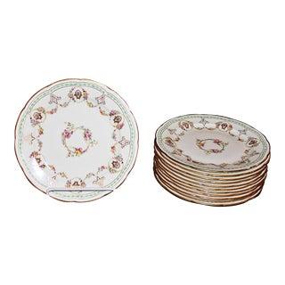 Cauldon Fine Bone-China PLates, Set of 12 For Sale