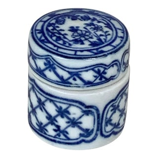 Vintage Petite Chinese Ceramic Box For Sale