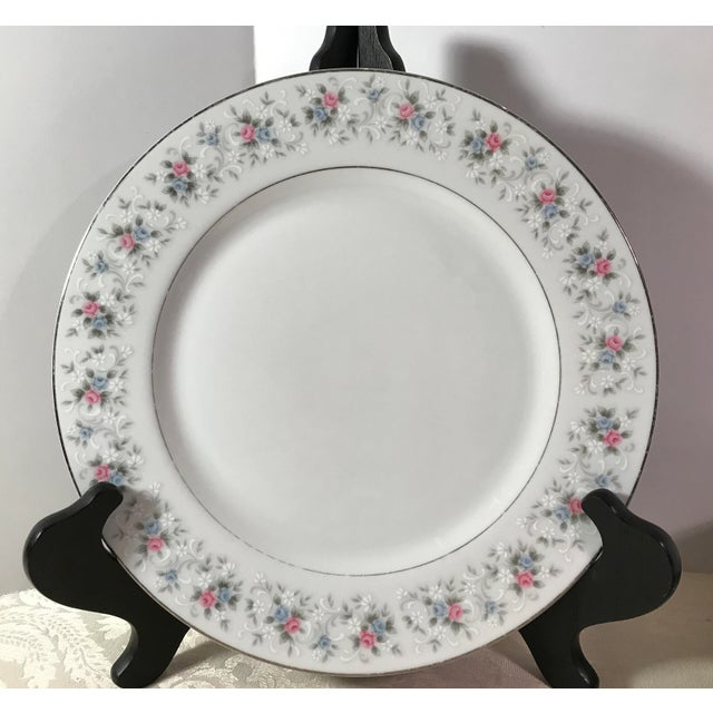 """Japanese China """"Corsage"""" Dinner Plates - Set of 7 - Image 3 of 6"""