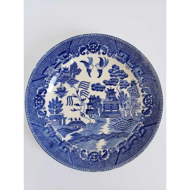 "Ceramic Antique ""House of Blue Willow"" Made in Japan Dinner Plates-Set of 4 For Sale - Image 7 of 13"