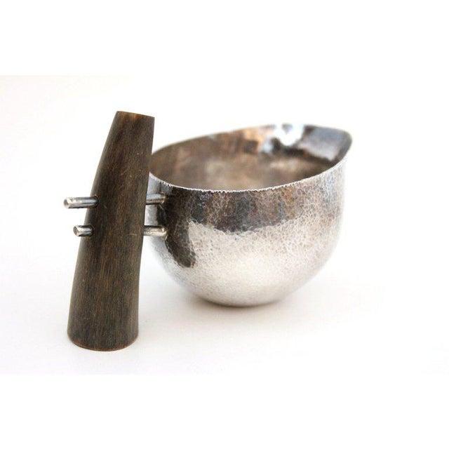 Bone Sculptural Modernist Sterling Creamer and Sugar Bowl For Sale - Image 7 of 11