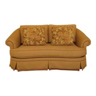 Ethan Allen Upholstered Beige Sofa Loveseat