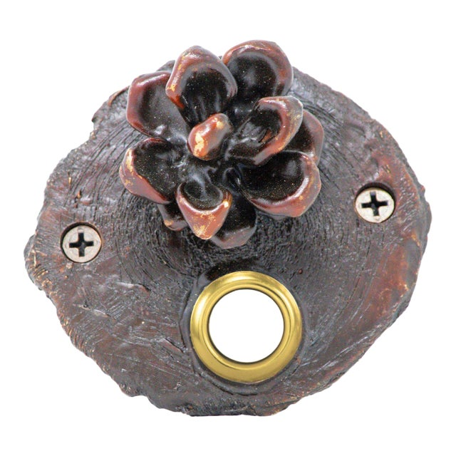 Log End Pinyon Cone Doorbell For Sale
