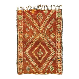 Vintage Beni M'Guild Moroccan Rug With Mid-Century Modern Style - 06'04 X 09'00 For Sale