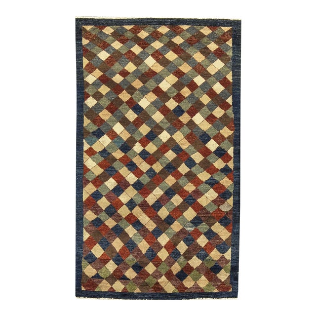"""Contemporary Hand Woven Rug 3'10"""" X 6'4"""" - Image 1 of 4"""