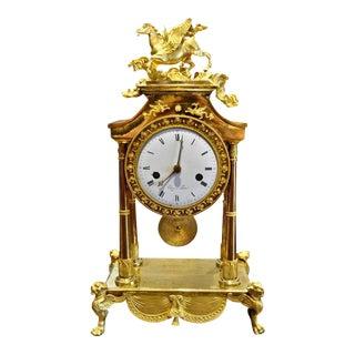 Late 18th Century French Ormolu Pegasus Clock For Sale