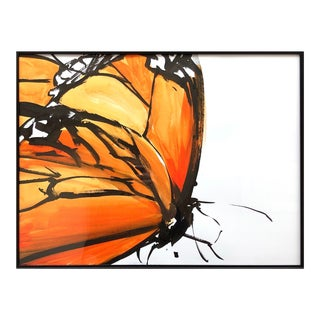 """Monarch 3"" Butterfly Series Contemporary Ink Drawing by James Repton For Sale"