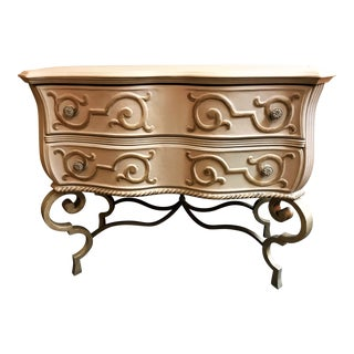 Vintage Hollywood Regency Style Console Table For Sale