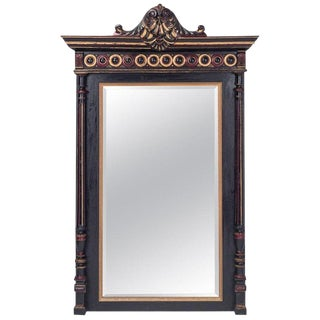 Hand-Carved Regency Style Overmantel Mirror For Sale