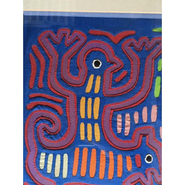 Vintage Indian Mola Framed Textile Art - Image 6 of 10