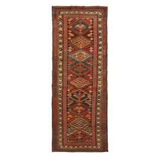 Antique Karabagh Wool Runner - 3′5″ × 9′4″ For Sale