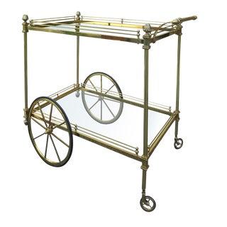 Mid Century Brass Bar Cart For Sale
