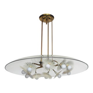 Mid 20th Century Pietro Chiesa Chandelier for Fontana Arte For Sale