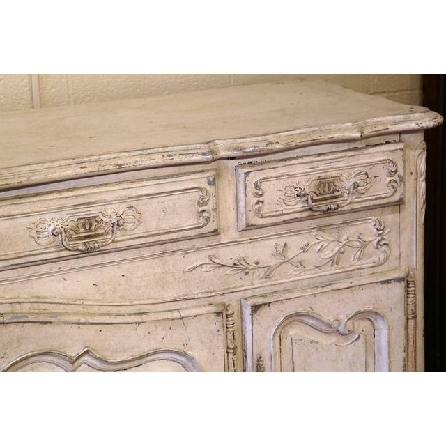 Early 20th Century French Louis XV Carved Painted Buffet - Image 5 of 9