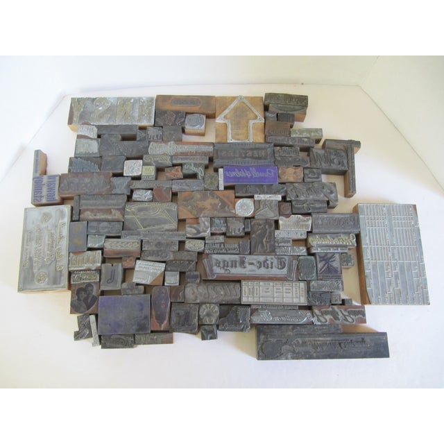 Vintage Letterpress Blocks - 116 Pieces - Image 2 of 6