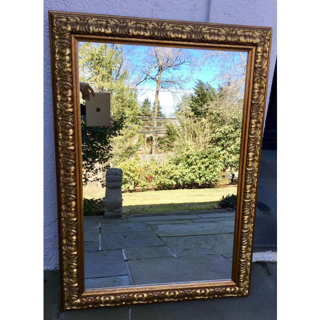Glass Ornate Gilt Wood Mirror For Sale - Image 7 of 7