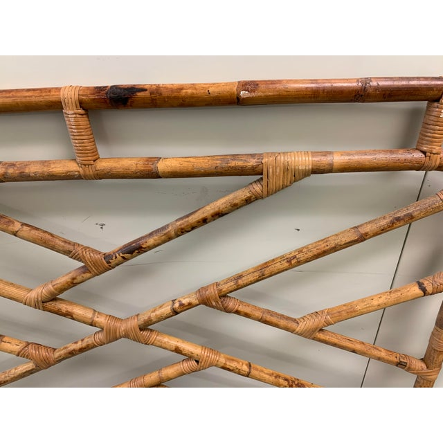 Bent Bamboo Full Size Headboard For Sale - Image 12 of 13