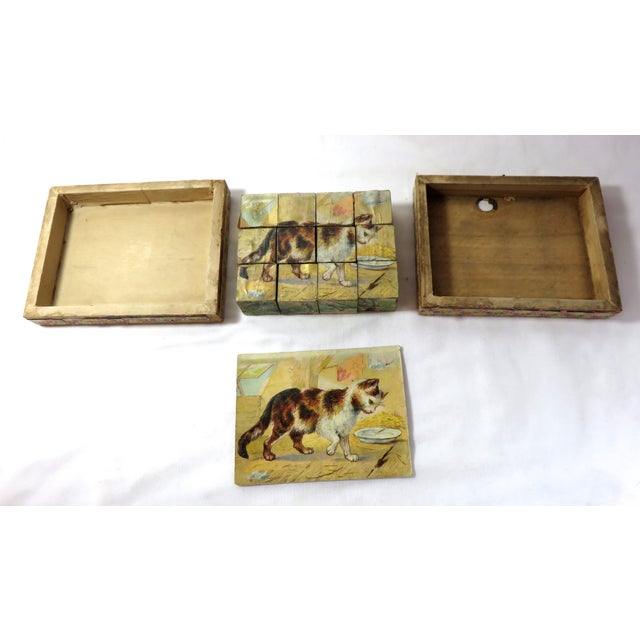 Late 19th Century Antique Childs Wood Block Puzzle Set For Sale - Image 5 of 13