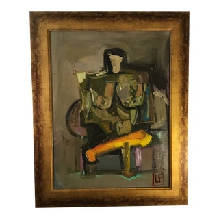 Seated Nude Abstract C 1960 For Sale