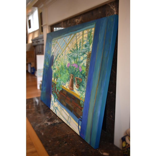 "Contemporary Large Painting, ""The Greenhouse"", by Stephen Remick For Sale - Image 11 of 13"