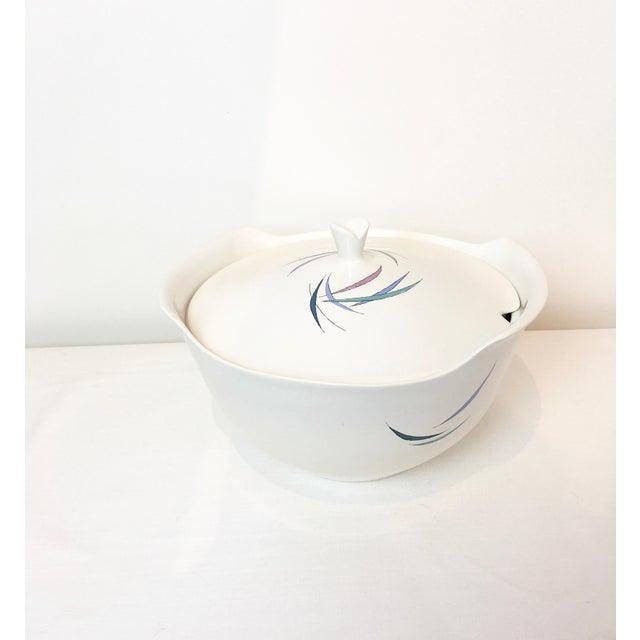 Ceramic Vintage 1950s Raymor Universal Sans Souci Pattern Ben Seibel Soup Tureen For Sale - Image 7 of 7