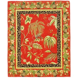 """Pasargad DC Vintage Tropical Tapestry - 2′10″ × 3′5"""" For Sale"""