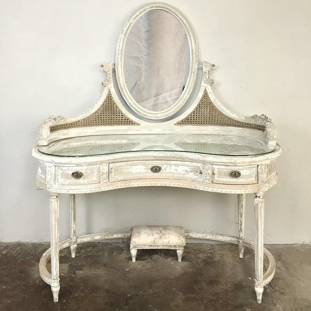 Fine Antique French Louis Xvi Painted Vanity Caraccident5 Cool Chair Designs And Ideas Caraccident5Info