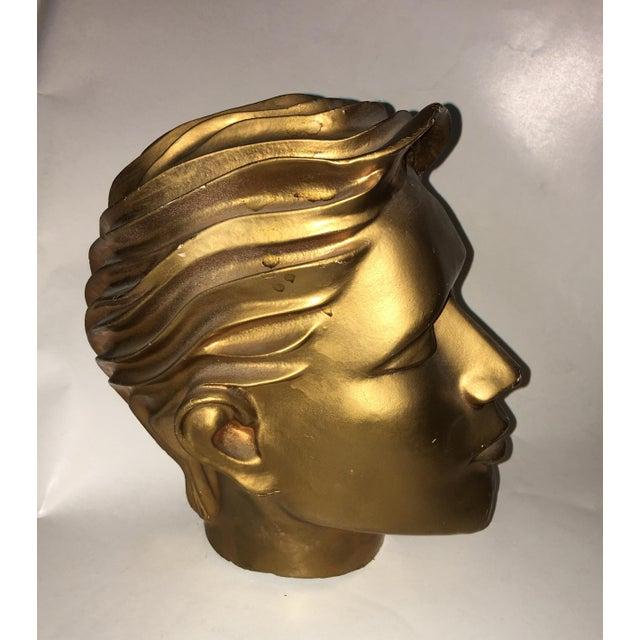 Vintage Fiberglass Man Mannequin Head For Sale - Image 4 of 13