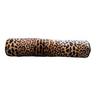 Braemore Jamil Leopard Velvet Bolster Pillow