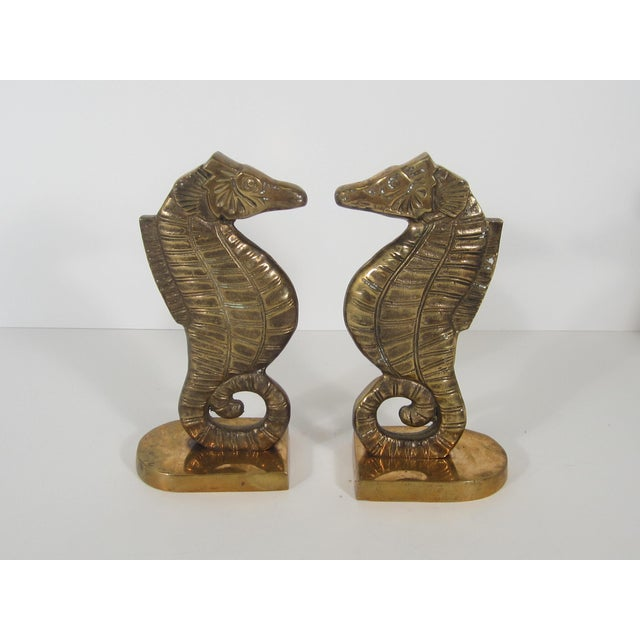 Brass Seahorse Bookends - Image 2 of 5