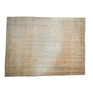 "Vintage Distressed Oushak Carpet - 7' X 9'4"" For Sale"
