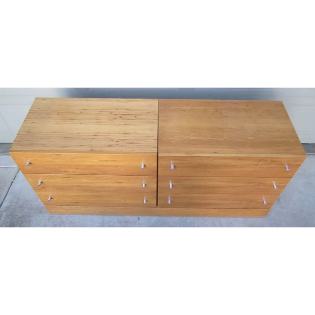 Contemporary 1970s Milo Baughman Thayer Coggin Maple Double Modular Dresser For Sale - Image 3 of 13