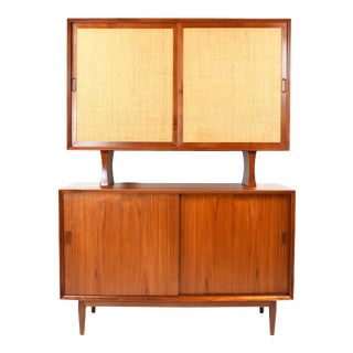 1950s Danish Modern Arne Vodder for Sibast Teak Sideboard Hutch For Sale