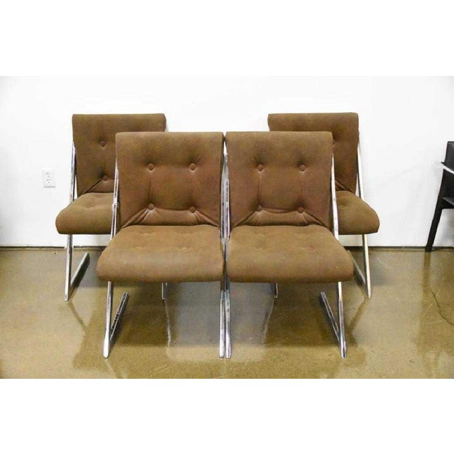 Vintage Set of 4 Mid-Century Modern Milo Baughman for DIA Chrome Z- Dining Chairs I have a Set of 4 chrome Z-bar dining...