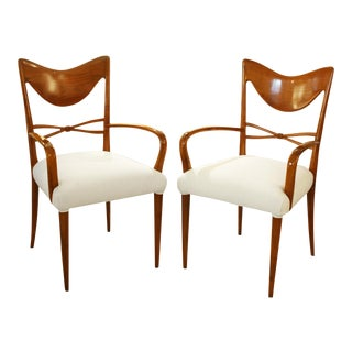 Osvaldo Borsani Sculptural Chairs - A Pair For Sale