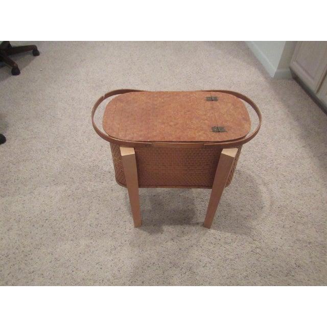 Vintage Picnic Basket Side Table - Image 3 of 11